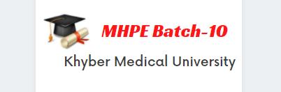 MHPE Batch-10
