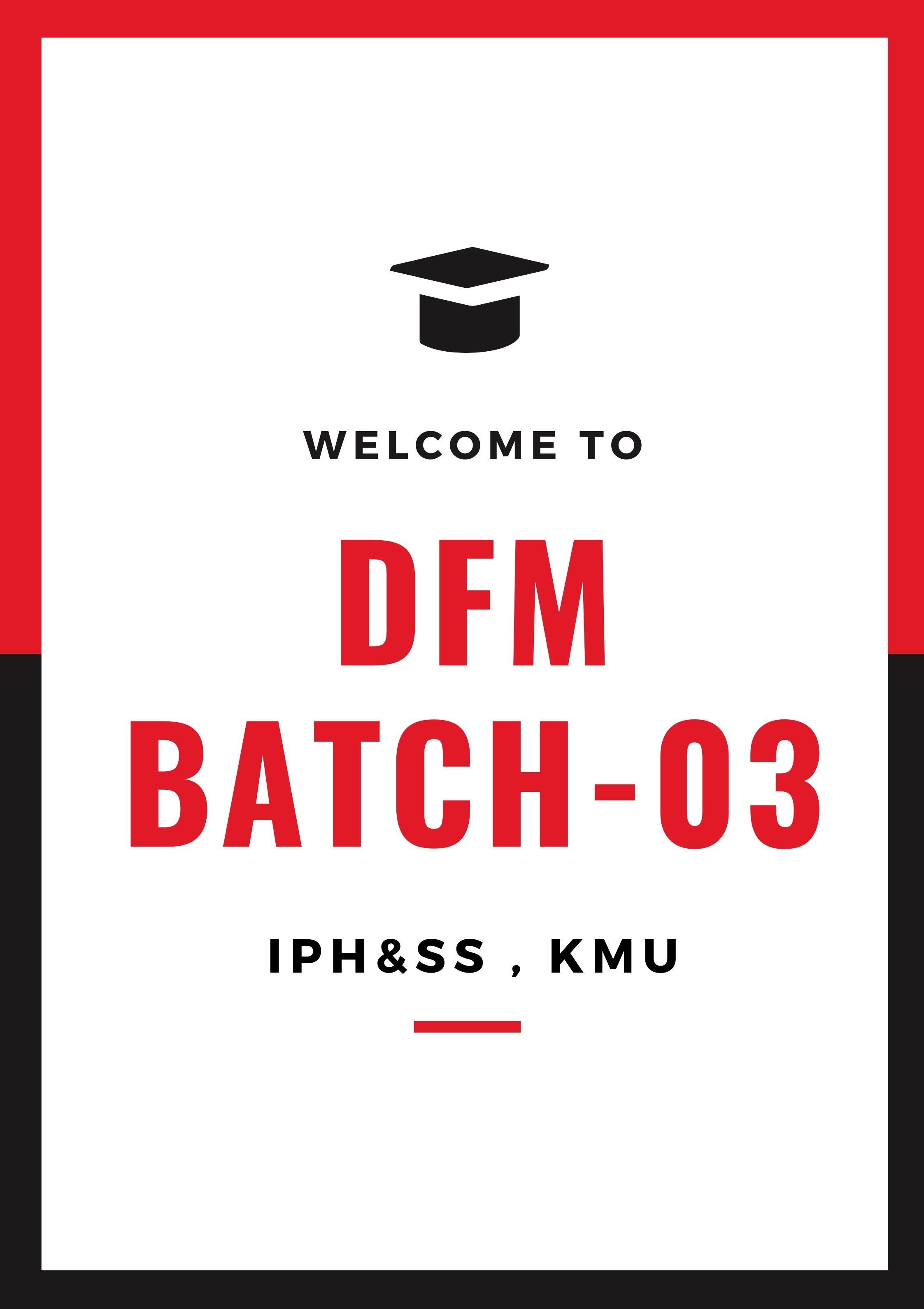 Diploma in Family Medicine Batch 03 Fall 2020
